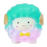 Jumbo Squishy Bow Big Sheep Alpaca Soft Slow Rising Stretchy Squeeze Kid Toys Relieve Stress Gift