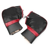PU Leather Warm Covers Motorcycle Handlebar Muffs Snowmobile Waterproof Winter Hand Gloves