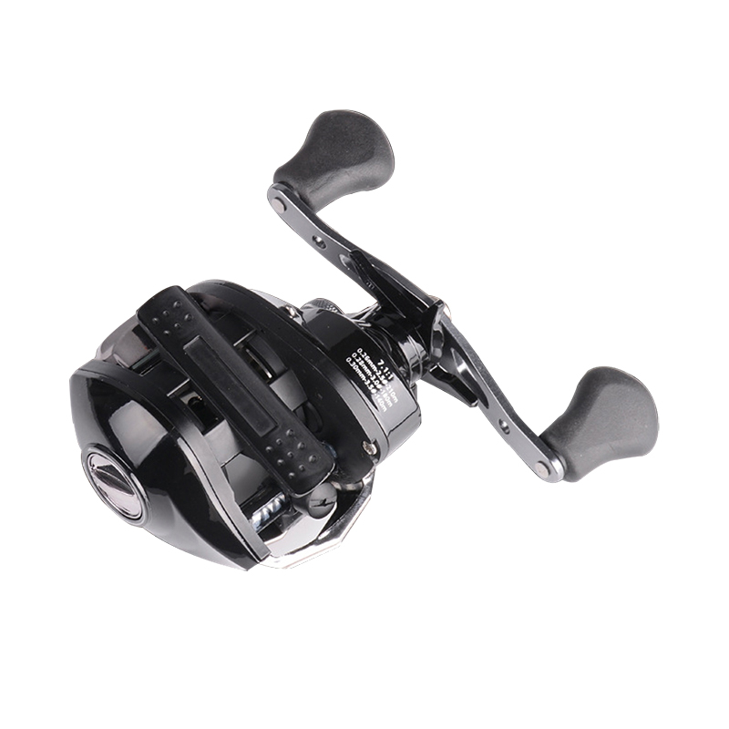 Bobing BC200 17+1BB 7.1:1 Aluminium Alloy Fishing Wheel Left/Right Hand Black Baitcasting Reel