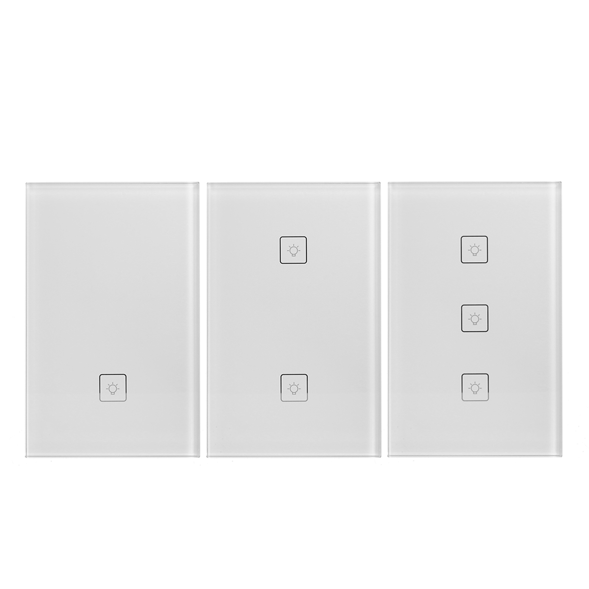 110 240v wireless remote control smart wall light switch works with amazon alexa us standard. Black Bedroom Furniture Sets. Home Design Ideas