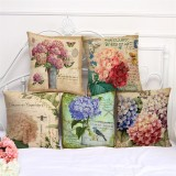 45x45cm Flower Style Cartoon Decorative Sofa Pillow Case Modern Floral Printed Cushion Cover
