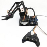 4DOF Robot Arm with Remote Control PS2 Self-Assemble with MG90s Servo for Arduino UN R3 Programming