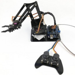 DIY Self-assemble Robot Car Arm with Wireless PS2 Remotro