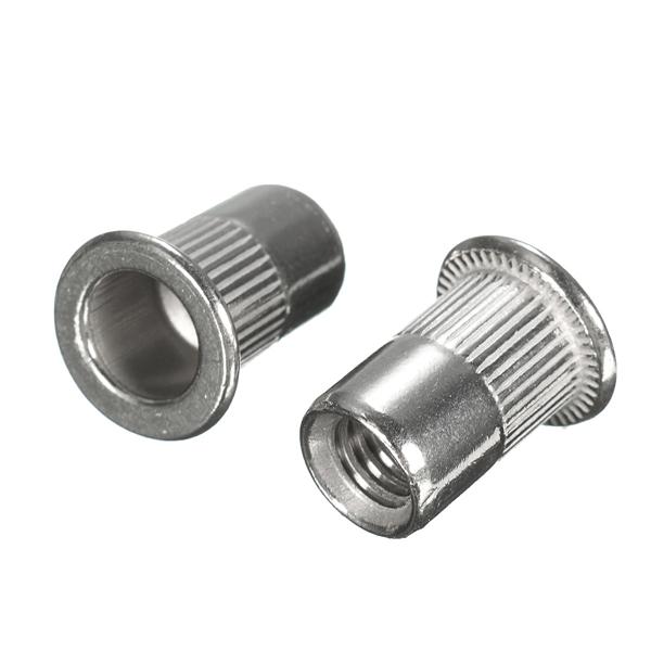 Suleve MXSR1 50Pcs Thread Rivet Nut Rivnut Insert Nutsert 304 Stainless  Steel M3 M4 M5 M6