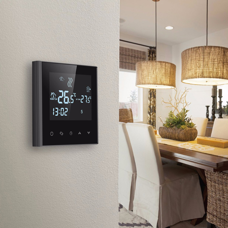 WIFI Floor Heating Thermostat 6 Period Programmable Controlling Temperature Heating Tool Touch Screen