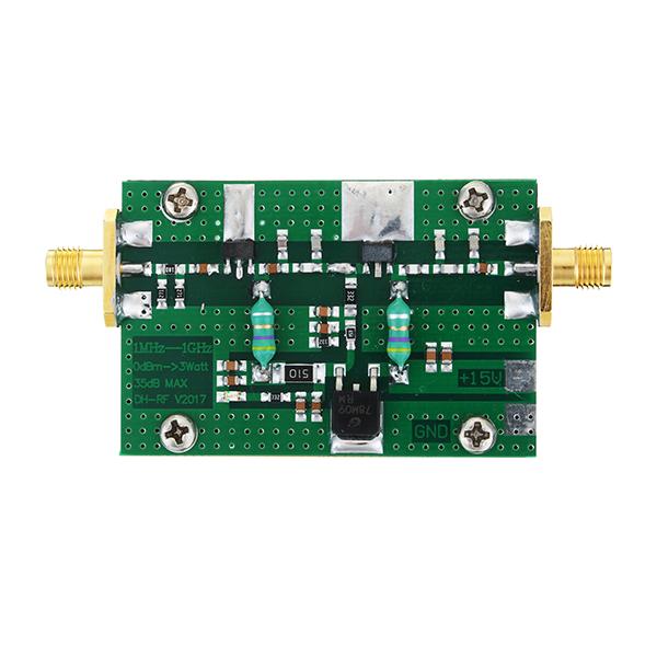 1MHz-1000MHZ 35DB 3W HF VHF UHF FM Transmitter Broadband RF Power Amplifier For Ham Radio
