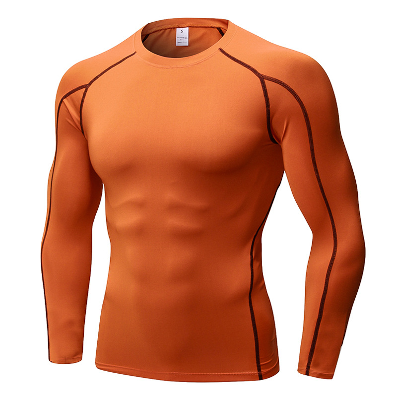 Pro Mens Compression Tight Long Sleeve Shirts Fitness Training Tops Activewear