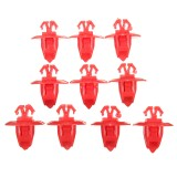 10Pcs Car Wheel Flare Push-Type Bumper F ender Moulding Retainer Clips For Toyota