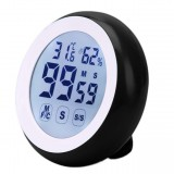 Loskii KC-02 LCD Digital Touch Screen Kitchen Timer Count UP Alarm Clock Temperature And Humidity Meter Practical Kitchen Gadgets Cooking Tools