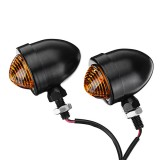Pair 12V 5W Motorcycle Turn Signal Lights Scooter Bulbs Cafe Racer Universal 10mm