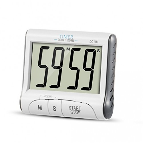 Loskii KC-09 Large Display Countdown Up Timer Clock Digital Kitchen Timer Magnetic Loud Alarm Cooking Timer with Stand