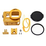 PULUZ PU183 Housing Shell CNC Aluminum Alloy Protective Cage for GoPro HERO6 HERO5 with 52mm UV Lens
