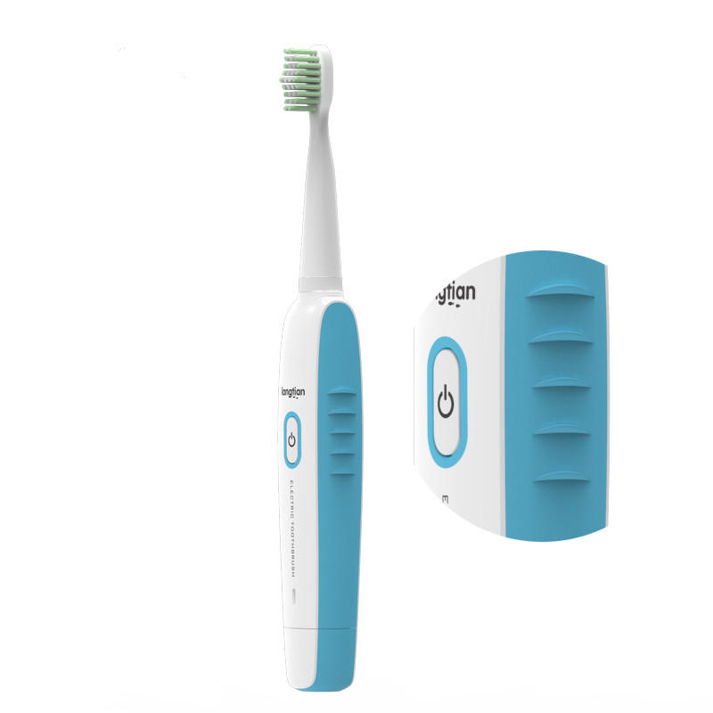 Langtian-Z09 Ultrasonic Sonic Electric Toothbrush USB Rechargeable IPX7 Waterproof 2 Minutes Timer with 4 Replaceable Toothbrush Heads
