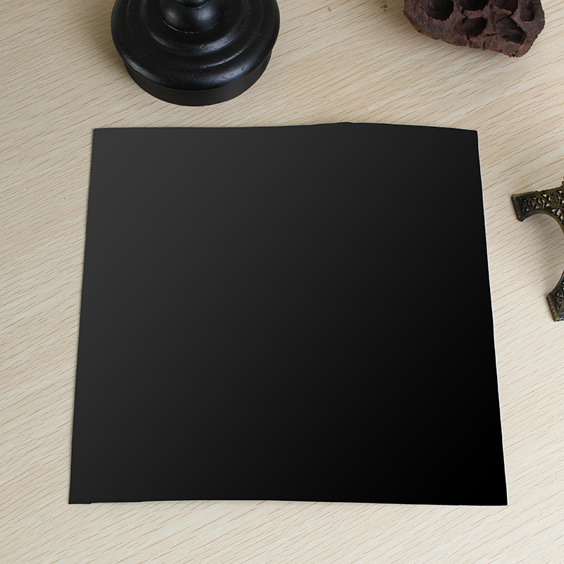 200x200x0 6mm Black Silicone Rubber Sheet Self Adhesive