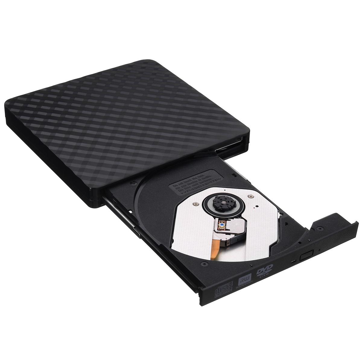 Ultra-Thin External USB 3.0 8X CD DVD Player Recorder ...