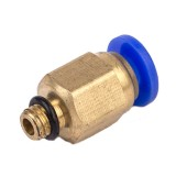 FLSUN 10PCS PC4-M5 Thread Nozzle Brass Pneumatic Connector Quick Joint For 3D Printer J-head Remote Extruder