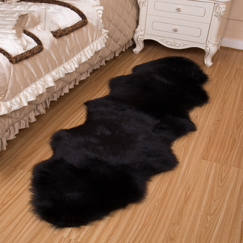 Honana WX-574 Imitation Wool Carpets Home Carpets Fur For Kids Room Living Room Warm Fur Carpets