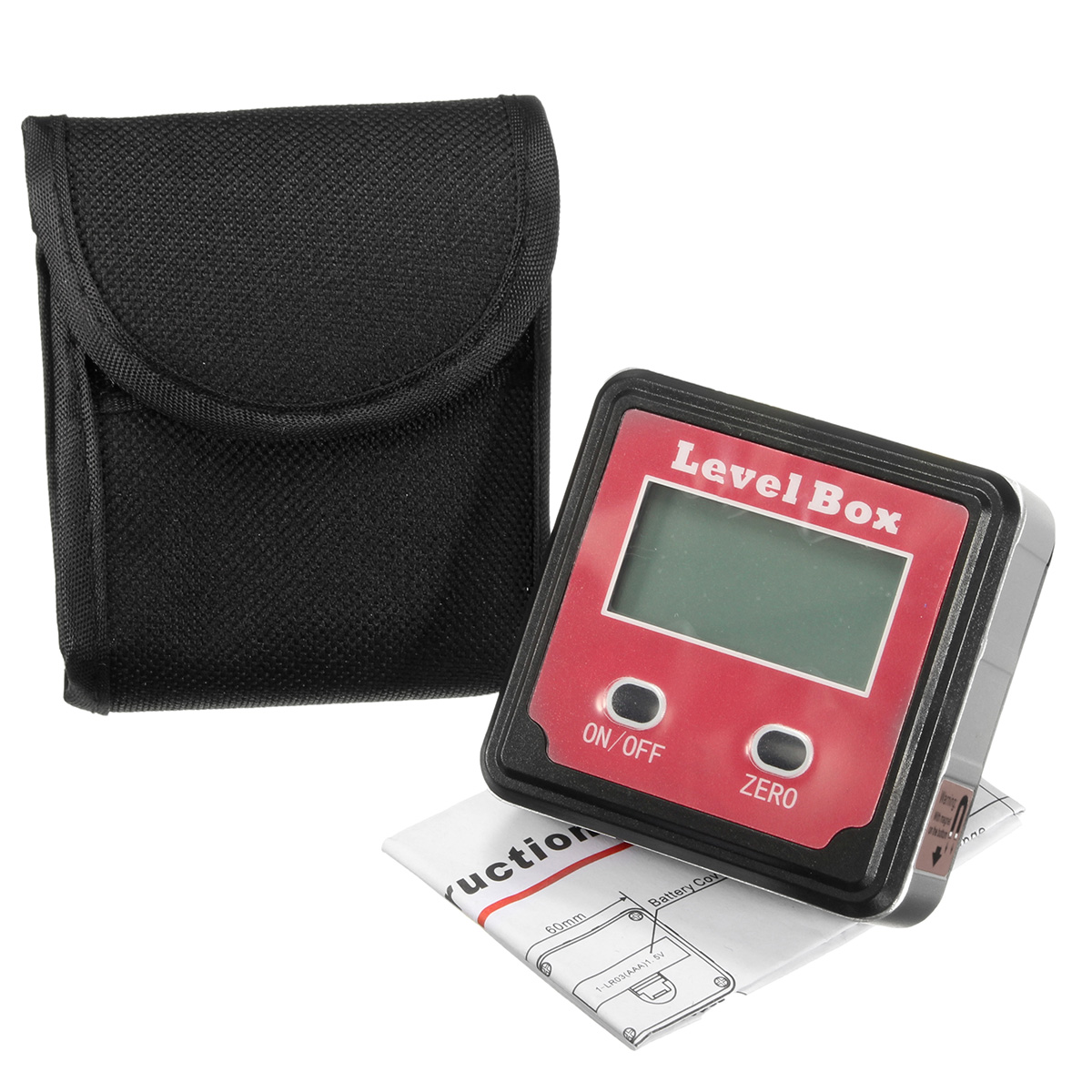 Raitool Magnetic Bubble Spirit Level Digital Angle Finder Gauge Protractor Inclinometer Level Box