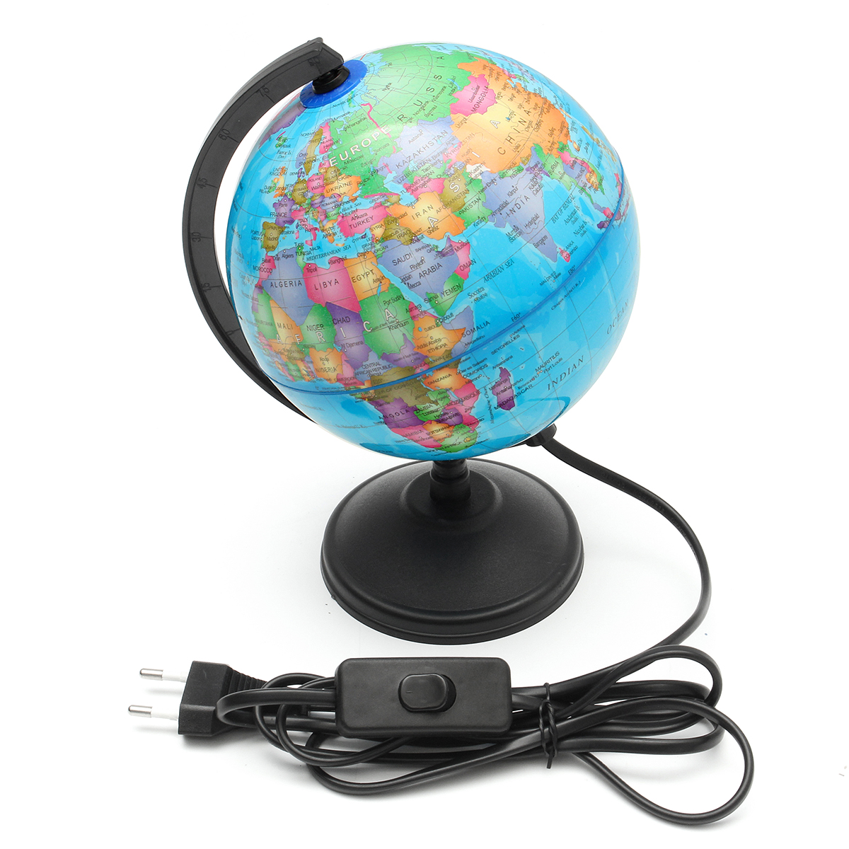 Spinning Globe Map Of The World For Kids Earth Stand Adult Geography Desk Swivel