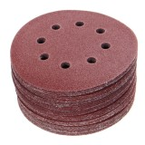 50pcs 125mm 8 Holes Hook Loop Sanding Discs 40/60/80/100/120 Grit Sander Pad Set