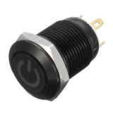 12V 4 Pin 12mm LED Metal Push Button Momentary Power Switch Waterproof