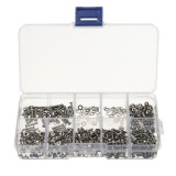 Suleve M2SSH1 600pcs M2 304 Stainless Steel Hex Socket Cap Head Button Head Flat Head Screws Nuts Assortment