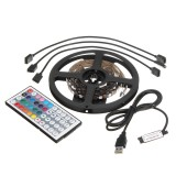 2x50CM + 2x100CM USB SMD5050 RGB LED Strip Light TV Backlight Bar Kit + Remote Control for DC5V