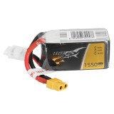 TATTU 14.8V 1550mAh 45C 22.9Wh 4S XT60 Plug Lipo Battery for FPV RC Drone