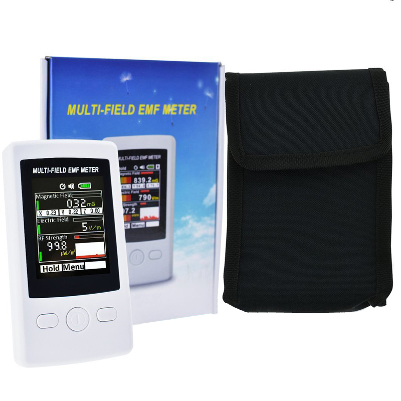 TM190 Multi-Field EMF Meter Gauss 3-axis Magnetic Electric RF Field Strenght Digital Electromagnetic Radiation Detector