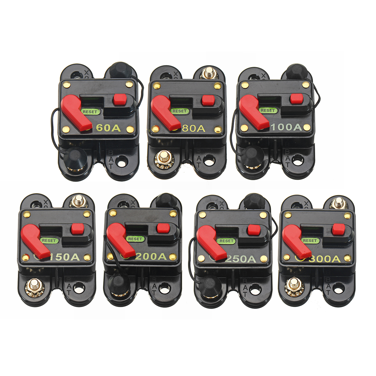 12v 24v Dc 60a 300a Home Solar System Waterproof Circuit Breaker Automotive Fuse Reset Inverter
