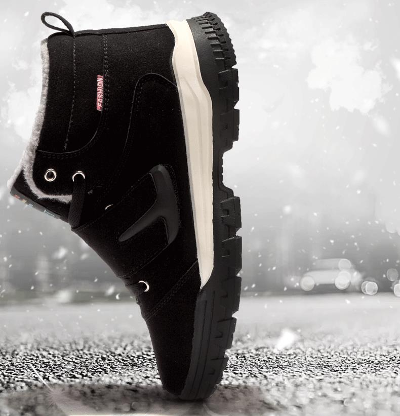 Winter Men Elderly Shoes Warm Cotton Outdoor Hiking Non-slip Sports