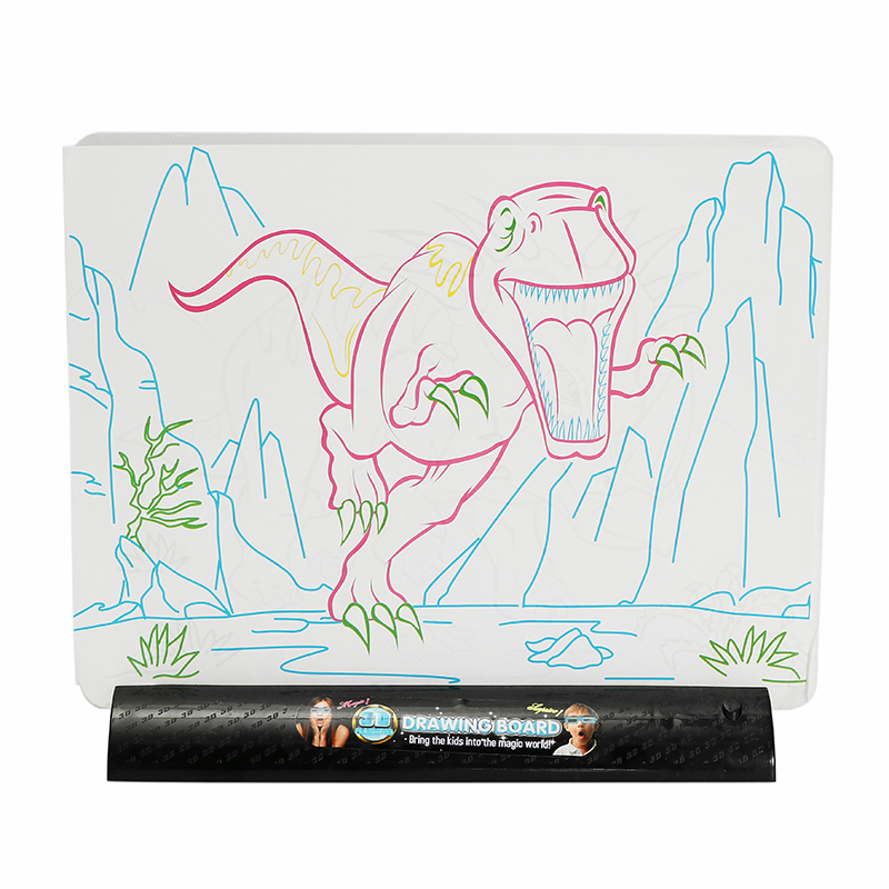 Christmas Ideas For Kids Drawing.3d Magic Flashing Drawing Board Dinosaur Game For Kids Children Educational Christmas Gift Toys