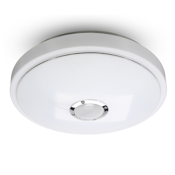 48W 36LED Flush Mount Modern Ceiling Light Dimming Lamp Fixture with  Bluetooth Speaker AC100-240V
