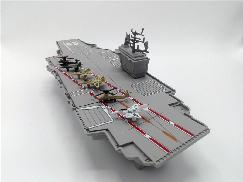 Simulation Aircraft Carrier Static Model With Six Airplane ...