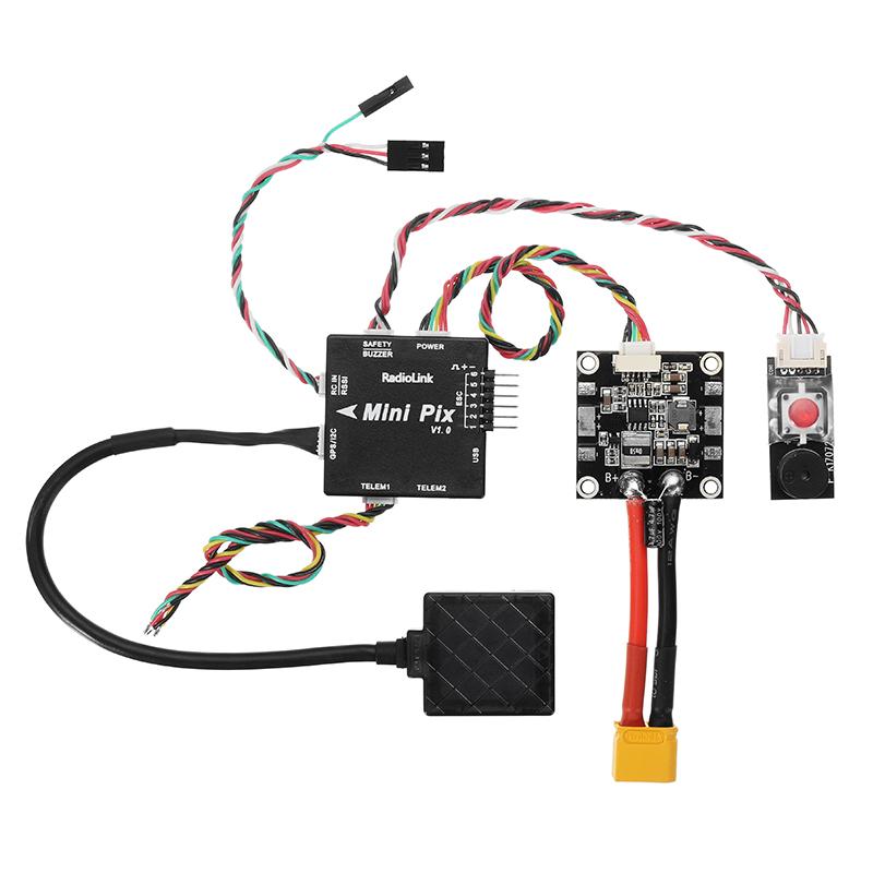 Radiolink Mini PIX F4 Flight Controller MPU6500 w/ TS100 M8N GPS UBX-M8030  For RC Drone FPV Racing