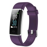ID130Plus 0.96 inch OLED Touch Screen Bluetooth 4.0 Smart Bracelet, IP67 Waterproof, Support Fitness Tracker / Heart Rate Monitor / Sleep Monitor / Information Reminder / Sedentary Reminder, Compatible with both Android and iOS System (Purple)