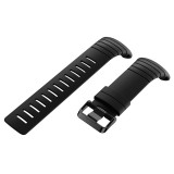 For Sunnto Core Series Square Steel Buckle Silicone TPU Watch Bands (Black)