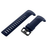 For Sunnto Core Series Square Steel Buckle Silicone TPU Watch Bands (Dark Blue)