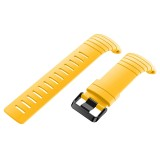 For Sunnto Core Series Square Steel Buckle Silicone TPU Watch Bands (Yellow)