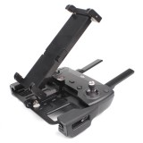 Foldable Stretchable Rotatable Aviation Aluminum Alloy Holder for DJI Mavic Pro / Air / Spark Transmitter, Suitable for 5.5-9.7 inch Smartphone / Tablet (Black)