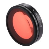 58mm 16X Macro Lens + Red Diving Lens Filter with Lens Cover + Lens Filter Ring Adapter + String + Cleaning Cloth for GoPro HERO6 /5