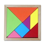 Baby Toy Fine Wooden Jigsaw Puzzle Beech Tangram