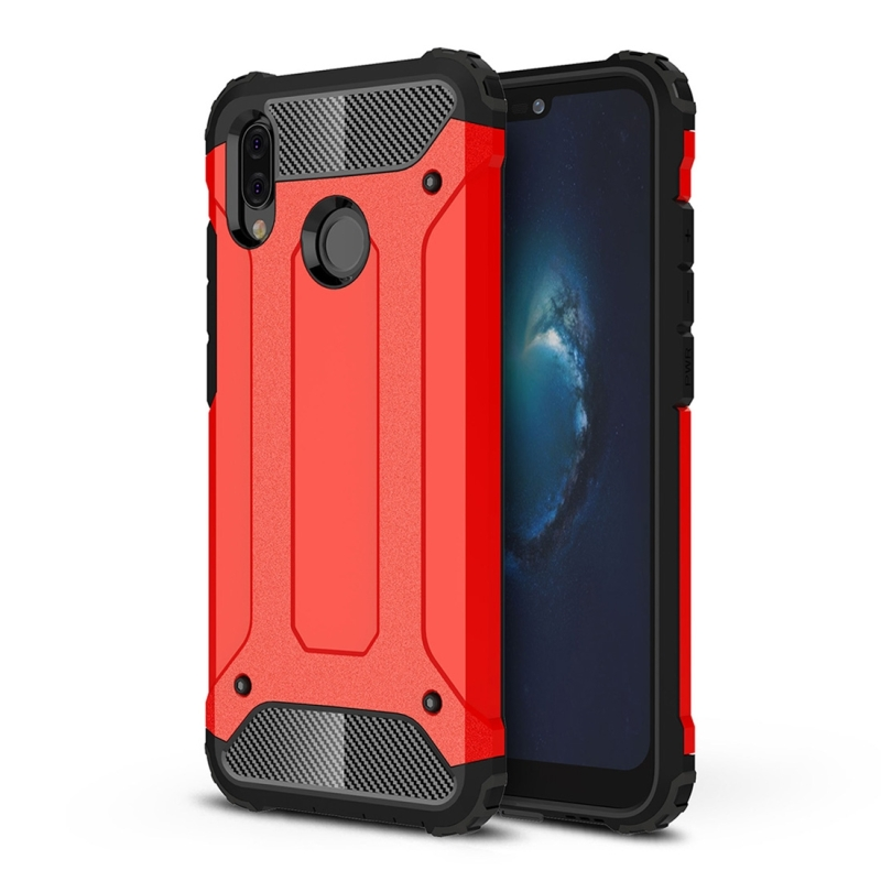 new style 5836e 273a6 For Huawei P20 Lite Full-body Rugged TPU + PC Combination Back Cover Case  (Red)