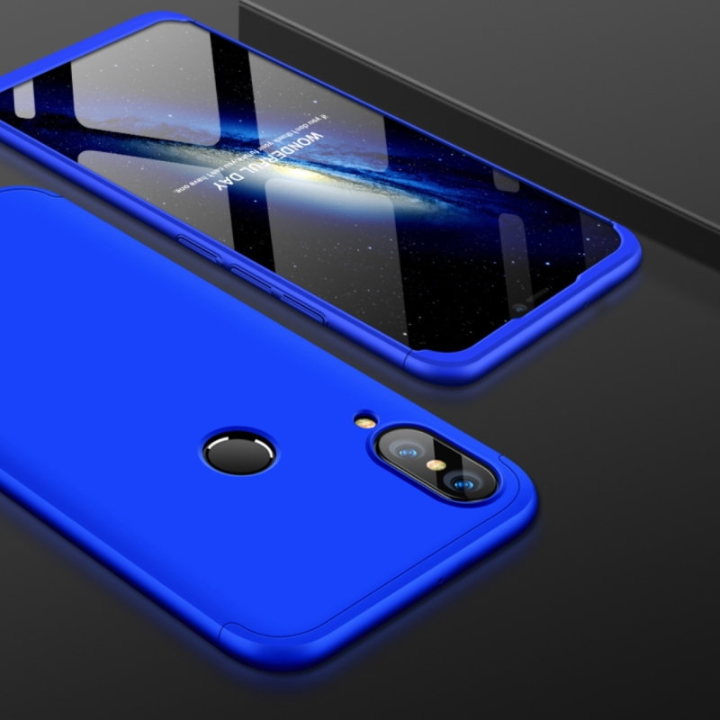 quality design 8e19e 57b82 GKK for Huawei P20 Lite PC 360 Degrees Full Coverage Protective Case Back  Cover (Blue)