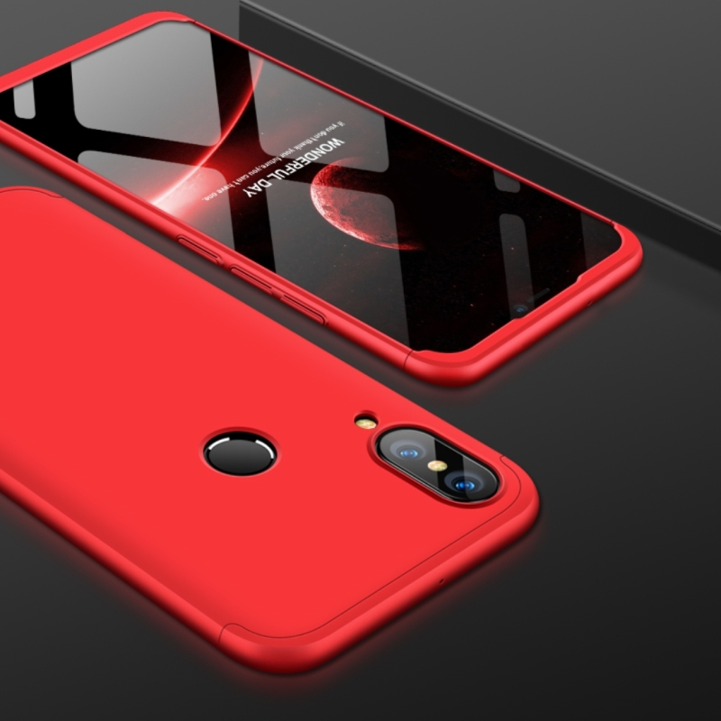 online store 80170 b20c7 GKK for Huawei P20 Lite PC 360 Degrees Full Coverage Protective Case Back  Cover (Red)