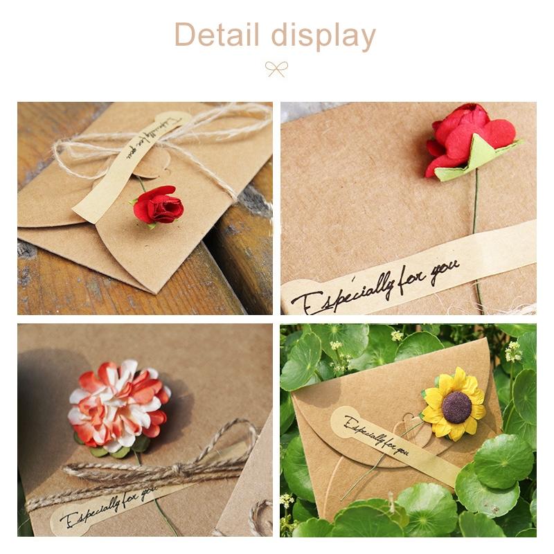 5 Pcs Festival Creative Diy Retro Kraft Paper Handmade Large Dry