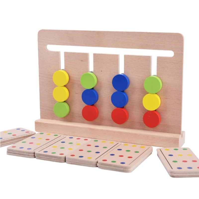 Baby Toy Montessori Four Colors Game Color Matching for ...