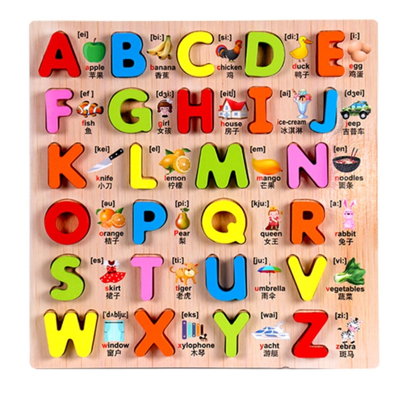 Baby Kids Wooden Puzzles Toys Educational Jigsaw Board ...