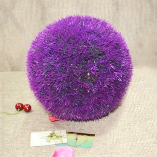 Artificial Grass Plant Ball Topiary Wedding Event Home Outdoor Decoration Hanging Ornament, Diameter: 4.7 inch