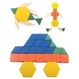 Children 125 Grain of Building Blocks Seven-piece Puzzle Wooden Intelligent Jigsaw Puzzle Educational Toys
